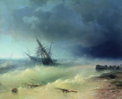 Ivan Aivazovsky. Storm
