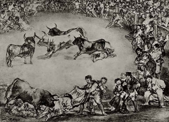 Francisco Goya. A series of Bullfights, sheet 3: Spanish fun