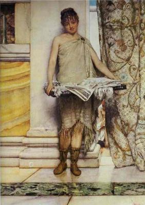 Лоуренс Альма-Тадема. Молодая девушка у колонны