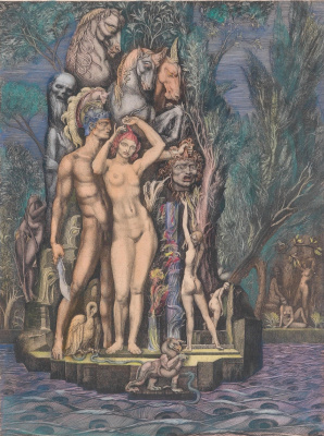 Ernst Fuchs. Venus on the island of death