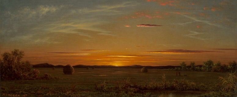 Martin Johnson Head. Sunset: the burning sky above the swamps