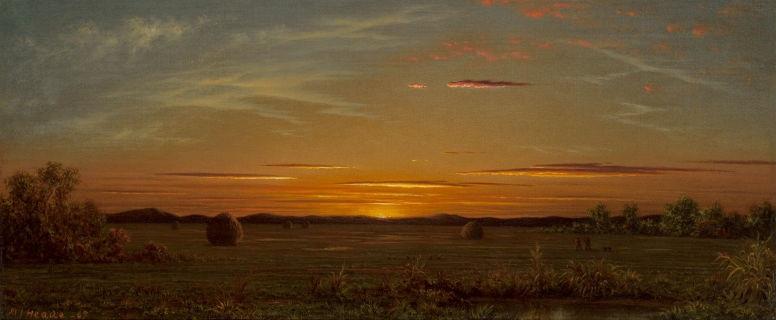 Мартин Джонсон Хед. Закат: горящее небо над болотами
