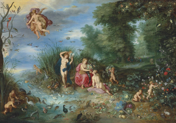 Jan Brueghel the Younger. Abundance and the four elements