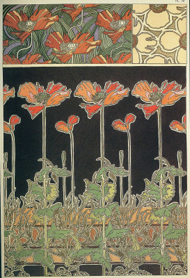 Alfons Mucha. The floral ornament. Decorative plate 38