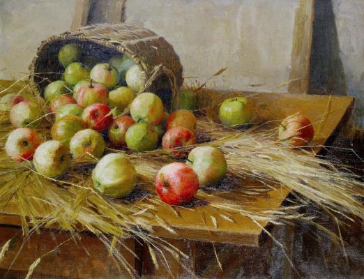 Fedor Vasilyevich Sychkov. Still life with apples. 1909