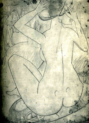 Ernst Ludwig Kirchner. Seated Nude