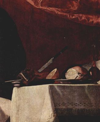 Jose de Ribera. The blind Isaac blesses Jacob. Fragment