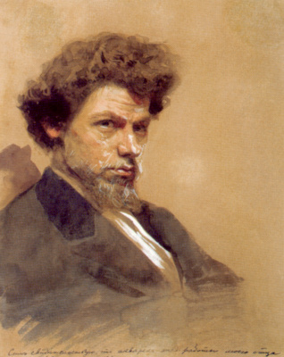 Ivan Nikolayevich Kramskoy. Portrait of the artist Vasily Maximovich Maximov