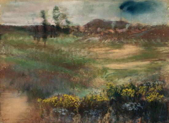 Edgar Degas. Landscape with chimneys