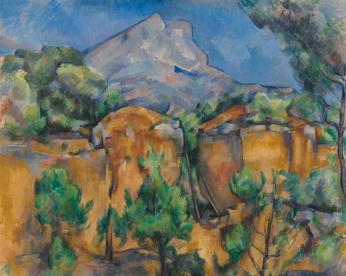Поль Сезанн. Гора Сент-Виктуар, вид из карьера (Гора святой Виктории, вид из карьера)