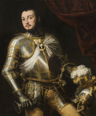 Paolo Veronese. Portrait of a young man in gilded armor (Count Collaltino Collalto?)