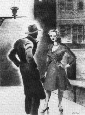 Рональд Китадж. Мужчина в шляпе и девушка