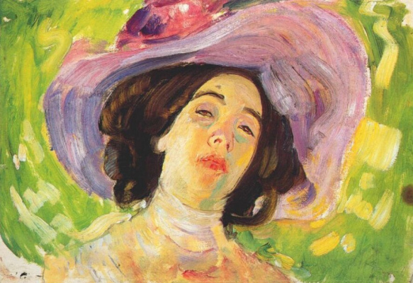 Михаил Яковлев. Женщина в лиловой шляпке