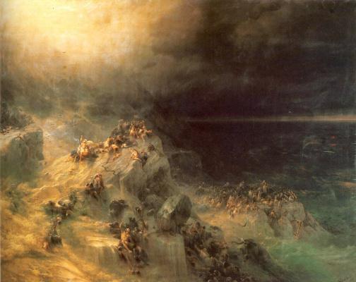 Ivan Aivazovsky. The flood