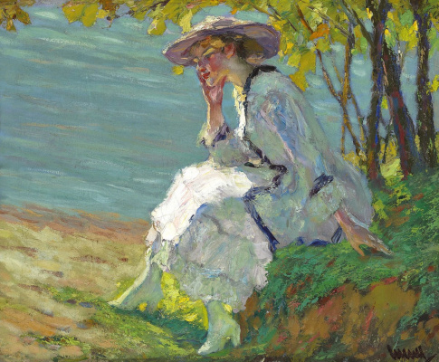 Edward Cucouel. The lady on the Stanberger See (Summer dreams) 1911-1912