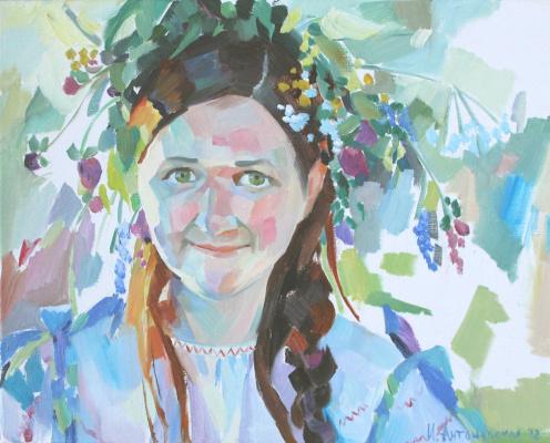 Irina Valerievna Antonovskaya. Girl in a wreath