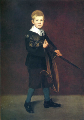 Edouard Manet. A boy with a sword