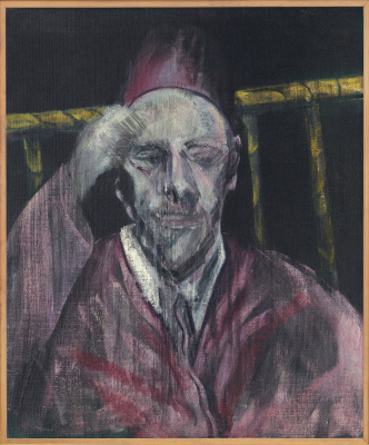 Francis Bacon. Head with his hand (portrait of Pope Pius XII)
