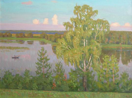 Евгений Александрович Казанцев. Summer evening. Msterka River.