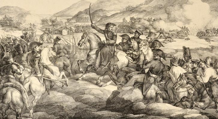 Théodore Géricault. Battle of Chacabuco, Chile