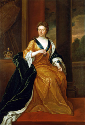 Charles Gervase. Queen Anne (based on the portrait of Godfrey Kneller in 1705)