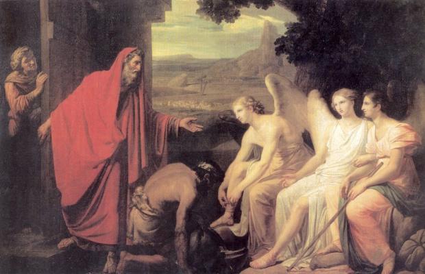 Karl Pavlovich Bryullov. The phenomenon of Abraham three angels at the oak of Mamre