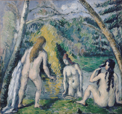 Paul Cezanne. Three bathers
