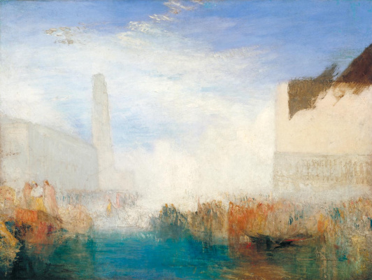 Joseph Mallord William Turner. Venice, The Piazzetta. The betrothal ceremony of the Doge with the sea