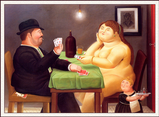 Fernando Botero. Players in cards