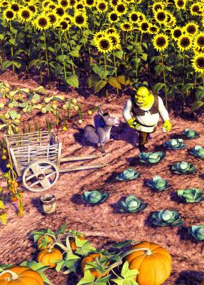 Лоуренс Хамашима. Шрек в саду