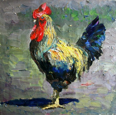 Михаил Рудник. Chickens No. 28. Cock