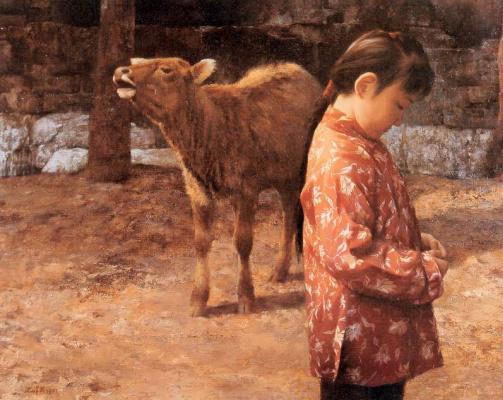 Хан-Ву Шен. Девочка во дворе