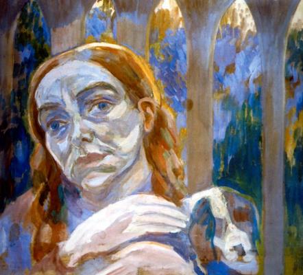 Pavel Varfolomeevich Kuznetsov. A woman with a dog