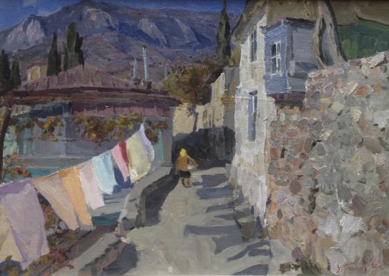 Victor Grigorievich Puzyrkov. Street in Gurzuf