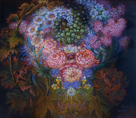 Екатерина Васильевна Билокур. Цветы и виноград
