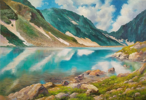 Alexander Romm. Mountain Lake. In the reserved land