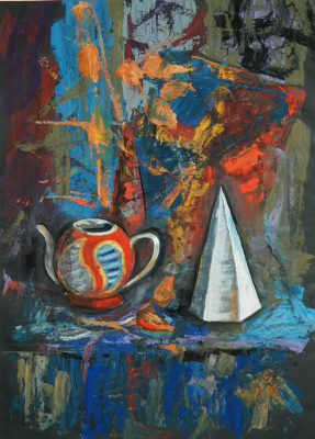Елизавета Александровна Рыбина. Still life with a cone
