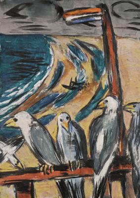 Gulls in a storm