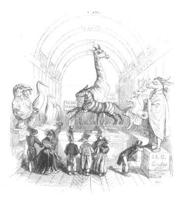 """Жан Иньяс Изидор (Жерар) Гранвиль. Пантеон животных. """"Сцены общественной и частной жизни животных"""""""