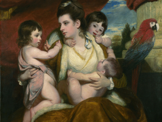 Joshua Reynolds. A portrait of Lady Cockburn with three elder sons. Fragment