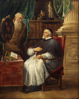 David Teniers the Younger. Portrait of Bishop Anthony Trist and his brother, Capuchin monk Eugene