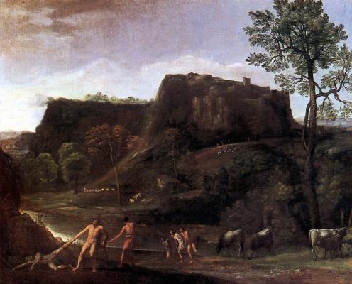Доменикино . Пейзаж с Гераклом и Ахелоем