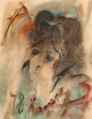 Anatoly Zverev. Female portrait