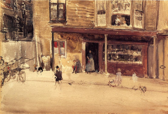 James Abbot McNeill Whistler. Shop outside