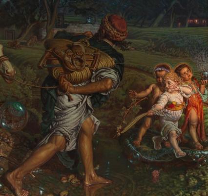 William Holman Hunt. The triumph of the innocent. Fragment