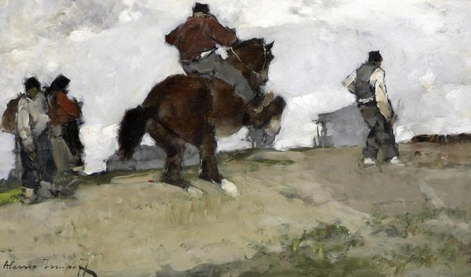 Alexey Vladimirovich Isupov. On a rearing horse.