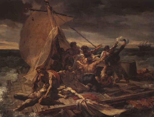 """Théodore Géricault. Raft """"Medusa"""" (the first version of the picture)"""