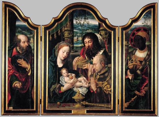 Питер Кук ван Альст. Триптих «Поклонение волхвов»