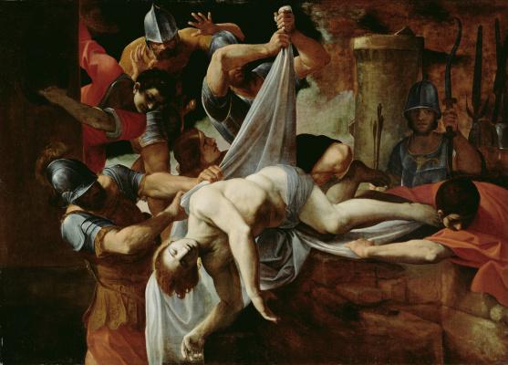 Лодовико Карраччи. Святой Себастьян, брошенный в Клоаку Максиму