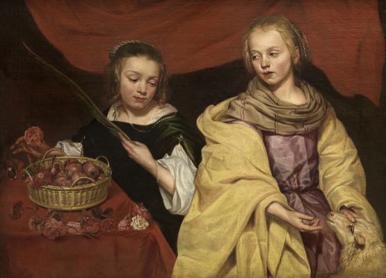 Mikaelina Votier. Saint Agnes and Saint Dorothea